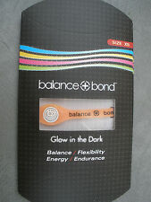 Balance + Bond Bracelet Band Glow in the Dark Silicone Ionic Energy ORANGE Med
