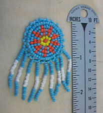 """LOT OF 10, 1-1/4"""" TURQUOISE BEADED ROUND ROSETTE, 1.25"""" x 2.25"""" long, BRAND NEW"""