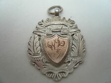 Silver Pocket Watch Fob/Medal, Sterling, Rose Gold, c.1920.