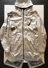 Nike Oregon Ducks Velocity Hoodie Full-Zip Jacket Silver Football XL No Main Tag