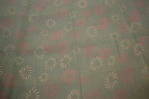 Japanese Silk Fabric Celeste with White and Pink Floral Design 1480