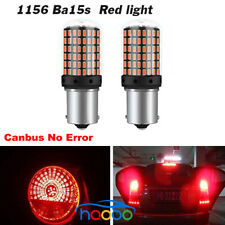 2x 1156 BA15S 144SMD 3014 LED Red Canbus Car DRL Daytime Running Light Lamp