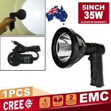 5'' 35W Cree Led Spot Rechargeable Handheld Light Shooting Camping Hunting Light