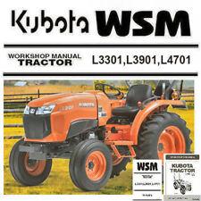 Kubota L3301 L3901 L4701 Tractor WSM Service Manual Owners Rare Custom PDF CD