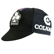 COLNAGO BLACK RETRO CYCLING BIKE CAP - Vintage - Fixed Gear - Made in Italy