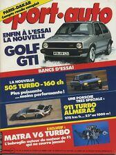 SPORT AUTO n°265 02/1984 PARIS DAKAR GOLF GTI PORSCHE 911 T AVEC ENCART & POSTER