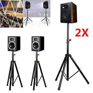 2 Stück Boxenständer Metall Lautsprecher-Stativ Lautsprecher Ständer DE