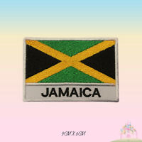 Jamaica National Flag With Name Embroidered Iron On Patch Sew On Badge
