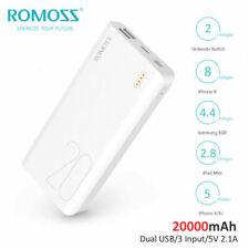 ROMOSS 20000mAh Portable Power Bank Dual-USB External Battery Fast Phone Charger