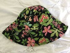 VERA BRADLEY SUN HAT FLOPPY FLORAL BOTANICAL BUCKET REVERSIBLE LIME GREEN NOS NE