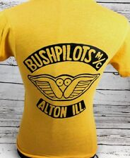Vintage 1986 BUSHPILOTS Motorcycle Club T-shirt Harley Davidson medium Biker 80s