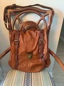 Banana Republic Brown Leather Messenger Bag