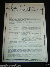 THE CURE NEWS APRIL 1990 OFFICIAL INTERNATIONAL INFORMATION SERVICE BOOKLET