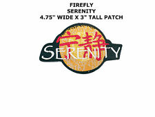 "Serenity/Firefly Embroidered Iron or Sew-on Movie TV 4.75"" x 3"" Patch US Seller"