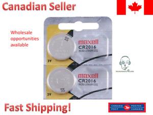 MAXELL CR2016 DL2016 3V lithium coin Hologram battery - 2 Batteries