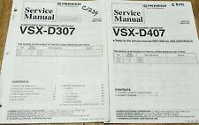 PIONEER VSX-D307 D407 AUDIO/VIDEO RECEIVER ORIGINAL SERVICE REPAIR MANUAL