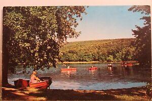 Pennsylvania PA Pocono Mountains Saylorsburg Lake Mount Family Resort Postcard