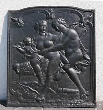 """Plaque de Cheminée """"DIANE et Endymion"""" 19ième"""