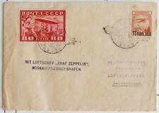RUSSIA to GERMANY 1930 ZEPPELIN, Imperf+ on RARE Airship Flight Cover to, Nutley