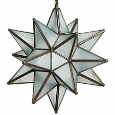 15 Inch Frosted White Glass Star Light