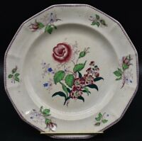 "Thomas Fell & Co St Peters Staffordshire The Rose Transferware 9"" Dinner Plate"