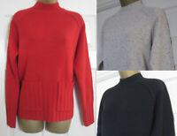New Next Womens Pocket Funnel Neck Jumper Top Soft Knit Winter Red Black 6-24