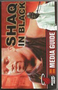 2004-05 Miami Heat NBA Basketball Media Guide Dwyane Wade Shaquille O'Neal