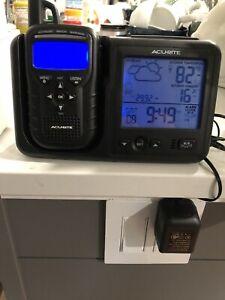 ACURITE WEATHER STATION ALARM CLOCK W/WEATHER ALERT RADIO MODEL 08580 PORTABLE