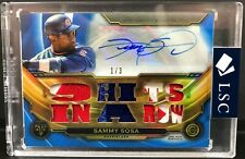 2019 Topps Triple Threads Sammy Sosa Chicago Cubs Autograph Relic 1/3