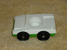 Fisher Price Little People Vintage Green & White Luggage Airport Car