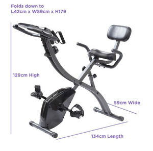 Slim Cycle 2-in-1 Stationary Exercise Bike Full-Body Workout Resistance Training