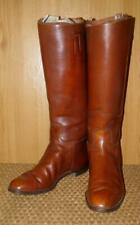 Vintage Gents Tan Leather Military/Polo Riding Boots By G Dobbing Glasgow UK - 9