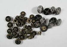 Druckknopf Metall  Knopf Knöpfe 10 Stück messing     18 mm groß  #1109#