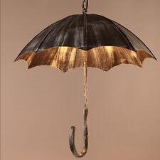 Umbrella Iron Ceiling Lamp Retro Led Fixture Light Chandelier Vintage Pendant
