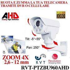 Telecamera PTZ motorizzata bullet AHD per esterno ZOOM OTTICO 4X LED ARRAY 60 MT