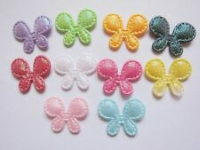 "200 Padded Shiny Butterfly 3/4"" Appliques/Trims/doll-10 Colors AB005"