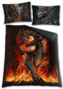 Spiral Direct - Draconis - Double sided Duvet Set - double Bed / tattoo art