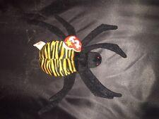Spinner the Spider ORIGINAL TY Beanie Baby Rare RETIRED MWMT