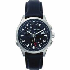 Nautica Herren Uhr Armbanduhr NAPSHG001Leder