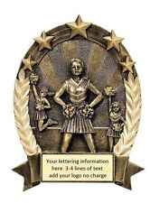 Economy Resin Cheerleading Award Free Engraving Plaque Or Trophy M-Rop5506
