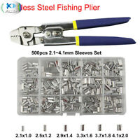 Wire Rope Swager Crimpers Stainless Steel Fishing Pliers with Crimp Sleeves Kit