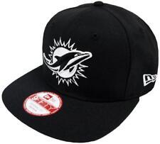 New Era NFL Miami Dolphins Nero Bianco Logo Berretto da baseball 9FIFTY