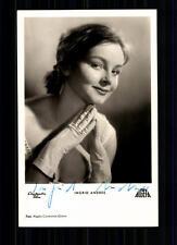 Ingrid ANDREE Art et image AUTOGRAPHE CARTE original signé Top # BC 659