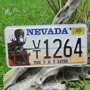 Véritable Plaque D' Immatriculation Etat du Nevada (1264) - USA - License Plate