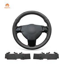 DIY Black Artifical Leather Car Steering Wheel Cover for Saturn Astra 2008-2010