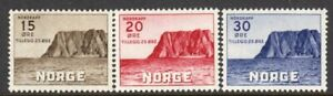 Norway Scott #B28-30 VF Unused 1943 North Cape Type for Tourist Association