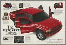 2000 DODGE DAKOTA Pickup 2-page advertisement, Dodge ad, big red Dakota pickup