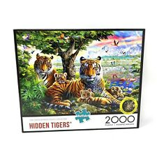 Buffalo 2000 Piece Hidden Tigers Puzzle With Poster
