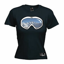 Ski Goggles Womens Powder Monkeez T-Shirt birthday gift ski skiing snowboarding
