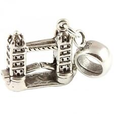 TOWER BRIDGE 925 Sterling Silver Dangle Charm / Carrier Bead - London